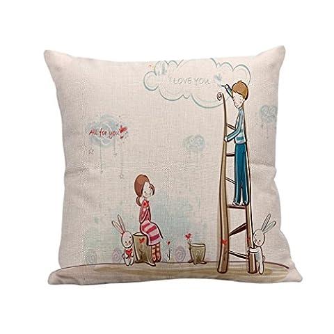 fuibo sortie cordon de lancer décor coussin canapé coussin de couverture coussin cas de couverture, Polyester, F, 43 * 43cm / (17.0 * 17.0