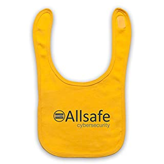 Mr Robot Allsafe Logo Baby Bib, Yellow