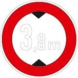 Verkehrszeichen VZ265, Verbot für Fahrzeuge über... Höhe, Alu, RA1, Ø 42cm Verkehrsschild