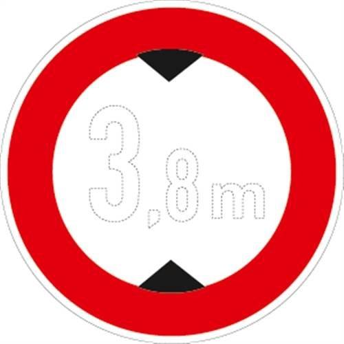 Verkehrszeichen VZ265, Verbot für Fahrzeuge über... Höhe, Alu, RA1, Ø 60cm Verkehrsschild