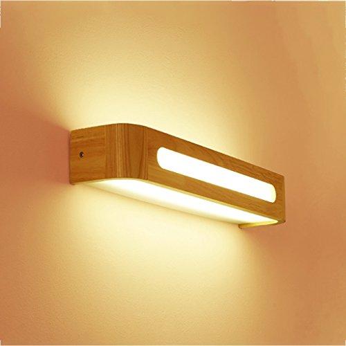 Hyun times Lámpara de pared de madera acrílico 35 * 8 * 8 cm de pared Escalera nórdica pasillo dormitorio espejo de baño LED espejo frontal