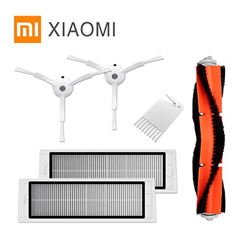 Accesorios para Xiaomi Mi Robot aspiradora, 2 filtro Hepa, 2 cepillo lateral, 1cepillo principal, 1 herramienta de limpieza