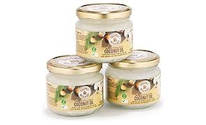 3x Extra-Virgin Organic Raw Coconut Oil 300ml