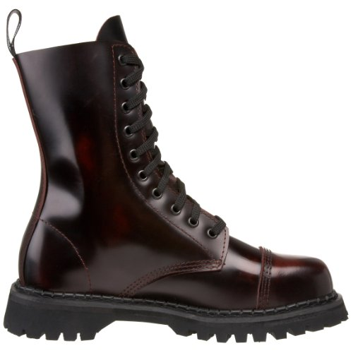 Demonia ROCKY-10 Herren-Stiefelette burgundy rub-off leather