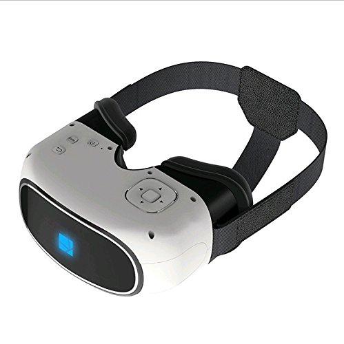 Caschi G200 Macchina Vr Realtà Virtuale Testa-Montata Vr Occhiali Cinema 3D Gioco Casco Blu Wifi , White