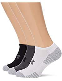 Under Armour UA Heatgear Tech NOSHOW 3PK Calcetines, Unisex Adulto, Gris (040)
