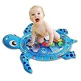 SGFDH aufblasbare Bauch-Zeit-Wassermatte, Baby-Wassermatte, auslaufsichere bunte Seespiel-Säuglingsmatte Kissen, Spielmatte für 3 6 9 12 Monate neugeborene Jungen Girls-102cm * 84cm