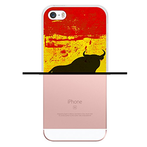 iPhone SE iPhone 5 5S Hülle, WoowCase® [Hybrid] Handyhülle PC + Silikon für [ iPhone SE iPhone 5 5S ] Husky-Hunde Sammlung Tier Designs Handytasche Handy Cover Case Schutzhülle - Transparent Housse Gel iPhone SE iPhone 5 5S Transparent D0570