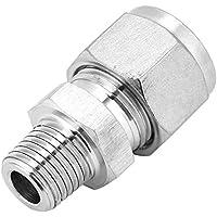 Akozon SS304 - Adaptador de rosca exterior para tuberías de acero inoxidable (1/4-12)