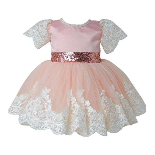Huhu833 Baby Kleid Spitze Mädchen Prinzessin Kleid Brautjungfer Pageant Spitze Tutu Tüll Kleid...