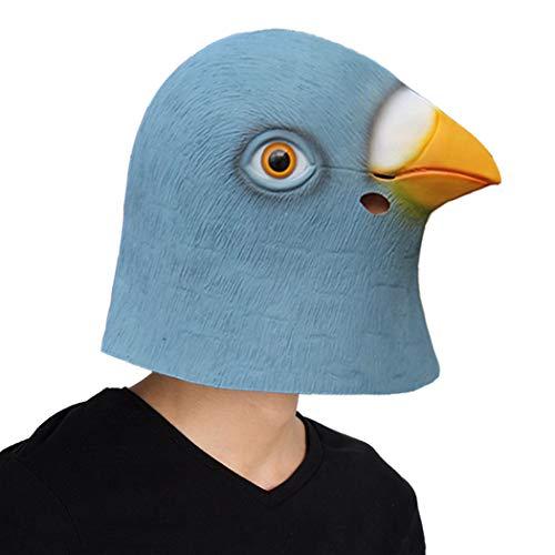 Kostüm Taube Maske - Finalshow Taub Maske Latex Tiermaske Kopf Kostüm Tauben Masken für Halloween Weihnachten Party Dekoration