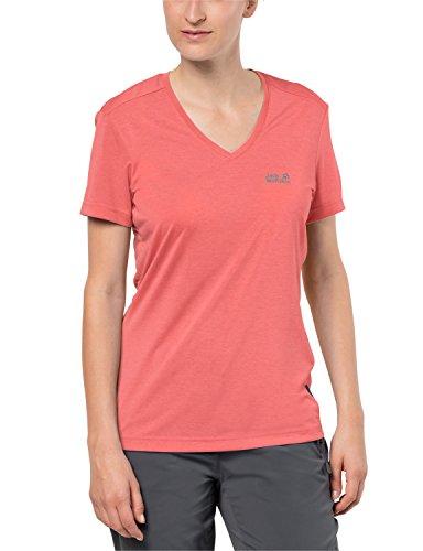 Jack Wolfskin Herren CROSSTRAIL T Women Leicht Atmungsaktiv Funktions Shirt Funktionsshirt, Flamingo, M