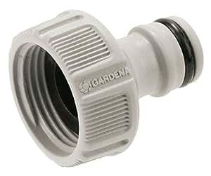 """GARDENA Hahnverbinder 26.5 mm (G 3/4""""): Anschluss für Wasserhähne mit Gewinde, wasserdichte Verbindung, einfache Handhabung, verpackt (18201-20)"""