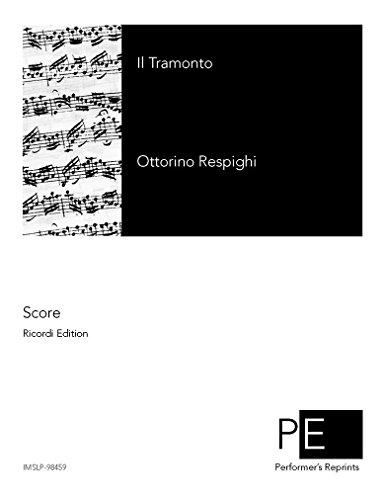 Il tramonto - For Voice & Piano por Ottorino Respighi