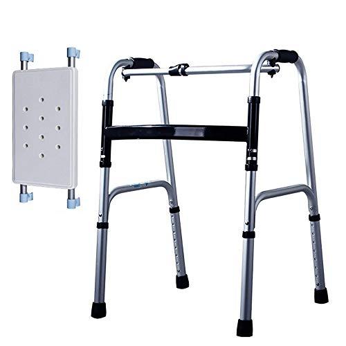 B WALKER Faltender Wanderer Multifunktionswanderer Stehender Gehender Rahmen Ältere Behinderte Rehabilitations-Ausrüstung Untere Gliedmaßen-Trainer-Standardwanderer -