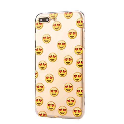 Für Iphone 7 Plus hülle Jamicy® Emoji Extra dünn Fallschutz Objektivschutz Rutschfest Schutzhülle Weiches Silikon handyhülle Telefonschale Für Iphone 7 Plus 5.5'' (I) F