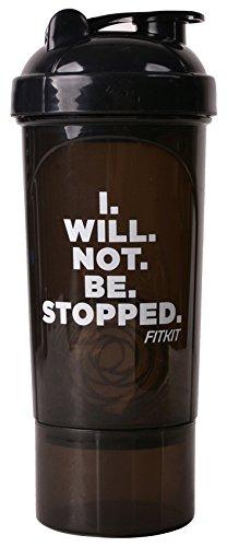 Fitkit Smart Sports Bottle Shaker (Black)