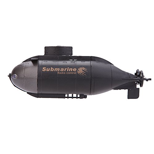 Tenlacum Mini 6-Kanal-Radio Control Racing U-Boot R / C Spielzeug mit 40MHz Sender 777-216 (schwarz)