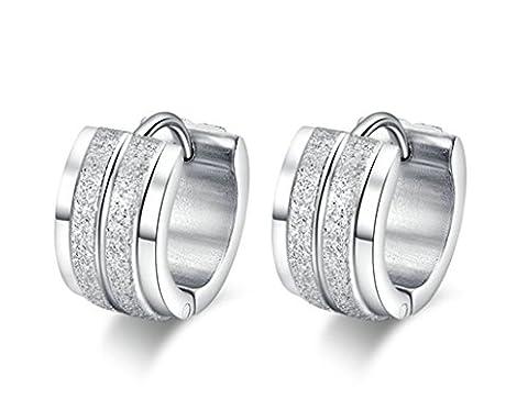 SanJiu Schmuck Damen Creolen Charme Ohrring Ohrringe 7mm Classic Runde Creolen Edelstahl Ohrschmuck für Damen Mädchen Ohrringe Silber