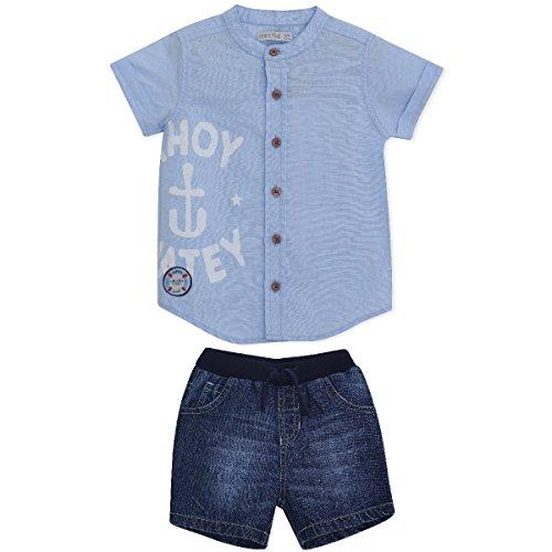 Miniklub At The Sea - Shirt and denim shorts set