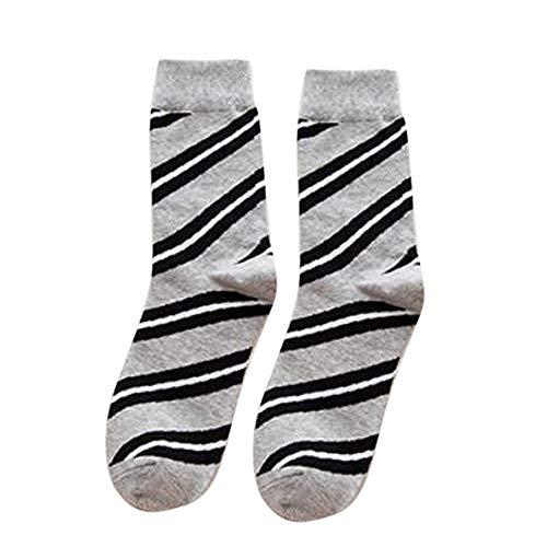Amphia - Men's Diagonalstreifen Strümpfe,Damen-weicher Winter-Kabel stricken über Knie langer Stiefel-warme Schenkel-hohe Socken