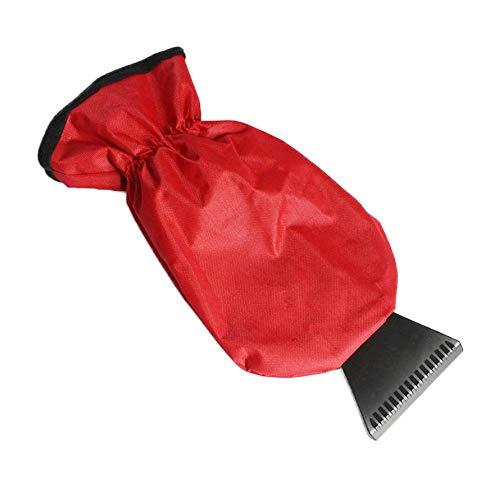 Eiskratzer, Auto-Handschuh-Typ Schneeschaufel Winter Wasserdicht Warmer Schneeentfernungs-Schaufel Handschuhe für Auto-Schnee-Schaber-Handschuh Windschild-Schaber mit Handschuh mit wasserdichtem