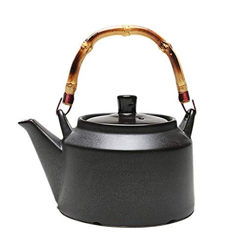 Stoneware Teapot Electric Ceramic Stove Charcoal Stove Gas Stove Can Cook Kung Fu Tea Set Ceramic Kettle Clay Pot Tea Ceremony Tea (Color : A) Quart Flame Top