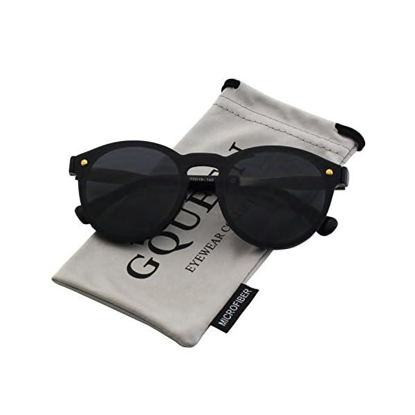b0468b0f50 GQUEEN Futurista Sin Marco Redondas Gafas de Sol Protector Reflexivo Espejo  ...