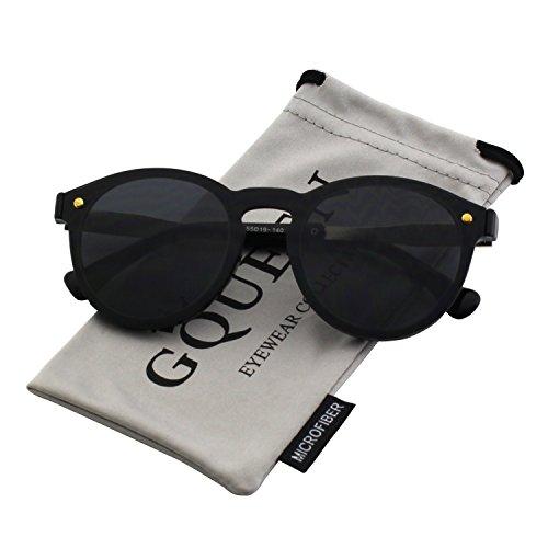 4a465d638c GQUEEN Futurista Sin Marco Redondas Gafas de Sol Protector Reflexivo Espejo  Anteojos para Hombre Mujer MEO5