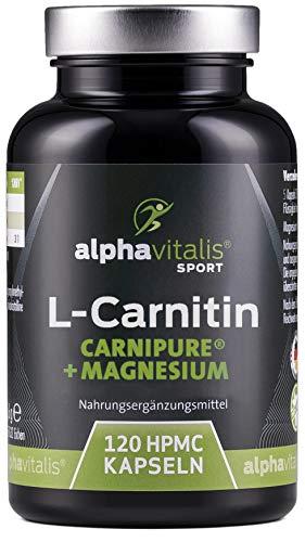 L-Carnitin Carnipure® 3000 + Magnesium-Citrat - hochdosiert, vegan, ohne Magnesiumstearat - 120 Kapseln - EINWEG