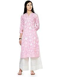 Varanga Pink Cotton Printed Kurta KFF-VARSS17143