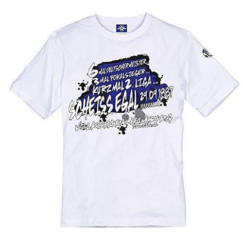 Volkspark Hamburg Streetwear Herren Shirt Kurz mal 2 Liga (weiss, 3xl)