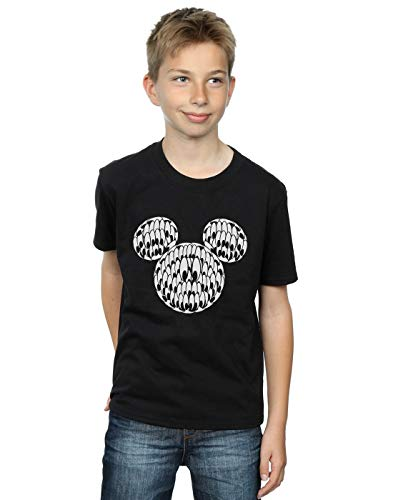 Disney Jungen Mickey Mouse Head of Eyes T-Shirt Schwarz 9-11 Years