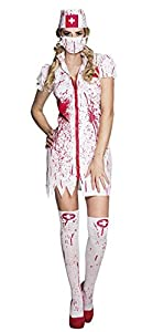 Boland Disfraz 79097Adultos Horror Enfermeras Talla 36/38, Color Blanco/Rojo