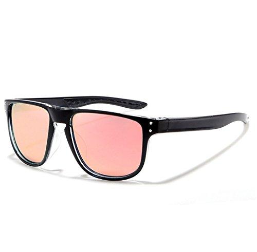 QQBL Unisex True Polarized TAC Kunststoff Metall UV400 Sichtbare Perspektive 99 (%) Sport Sonnenbrillen,Pink
