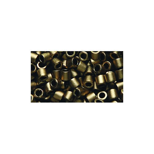 Miyuki Delica Seed Bead 8/0 DBL0322, Metallic Dark Bronze Matte, 8-Gram/Pack