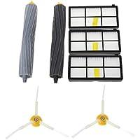 CADANIA Repuestos para aspiradoras Cepillo Lateral y Filtro HEPA y Extractor de escombros para iRobot Roomba, Accesorio para aspiradoras
