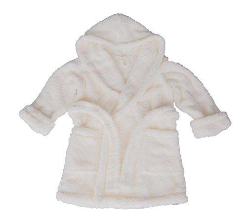 Preisvergleich Produktbild Dkaren Warmer und weicher Bademantel mit Kapuze für Jungen und Mädchen in 14 Farben (104-152) Ekri, Größe 110 cm