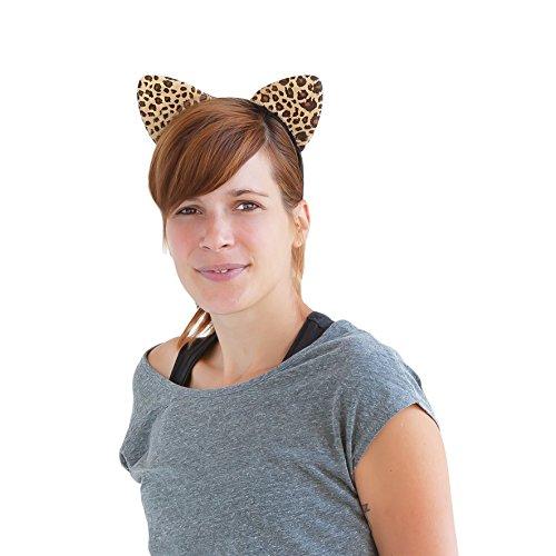 Leopard Kostüm Erwachsene - Oblique Unique® Haarreif Leopard Ohren Dress