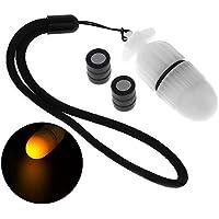 SecurityIng 1Pc Unterwasser Strobe Signallicht Nachttauchen Gerätetauchen Marker LED Sicherheitslampe Firefly Beacon Beam 200M Underwater Mit Batterie 200 Stunden Dauer