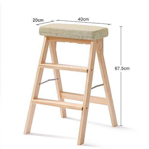 Entwickelt Nussbaum (Klappbarer Trittleiter aus Holz für Erwachsene Leiter Hocker Klappleiter für den Haushalt Rutschfeste Leiter Multifunktionsleiter mit drei Stufen Tragbare Klappleiter (Farbe: D) ( Color : F ))