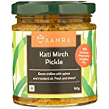 Aamra Homemade Traditional Kati Mirch Pickle (Fresh Green Chilli Pickle) 160g