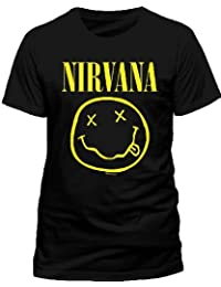 Live Nation Nirvana - Smiley - T-shirt - Col Ras Du Cou - Manches Courtes - Homme