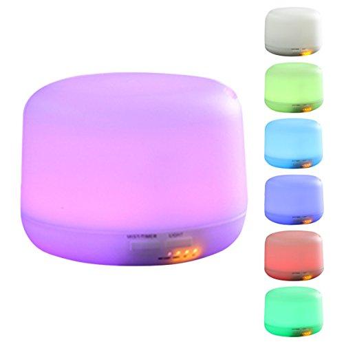 ELEGIANT diffuseur aromathérapie Lampe d'Ambiance Arôme de l'humidificateur à ultrasons portable et 7 LED couleur des lumières Diffuseur D'Huiles Essentielles 300ml pour SPA, Yoga, Maison, Bureau