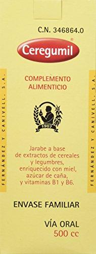 CEREGUMIL ORIGINAL Suplemento Nutricional c/ Vitamina Tiamina B1 Vitamina B6 Cereales y Legumbres Vitaminas y Suplementos - Energia y Formula Natural Española desde 1907 - 500 mL