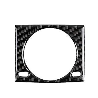heacker Ersatz für IS250 NX200 200t 300h Clock-Panel-Abdeckung Carbon-Faser-Verzierungen Aufkleber Rahmen