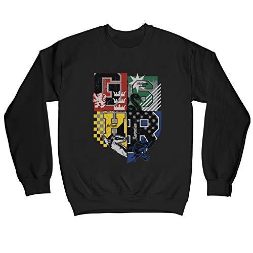Harry Potter Hogwarts Varsity House Crest Children's Unisex Black Sweatshirt