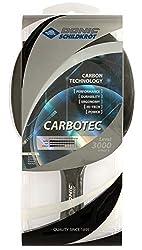 Donic-Schildkröt Tischtennisschläger CarboTec 3000, 50% Carbon, 2,1 mm Schwamm, Engery QRC - ITTF Belag, anatomisch, 758213