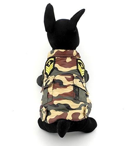 ranphy Kleine Haustiere Hund Katze Armee Jacke Gepolsterte Weste Mantel wasserdichten Jacken Chihuahua Kleidung Camo Militär Uniform (Camo Jacke Chihuahua)