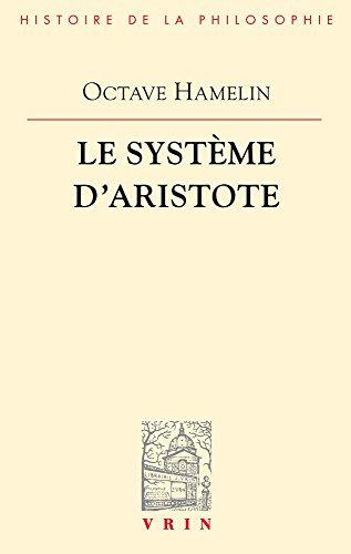 Le système d'Aristote par Octave Hamelin